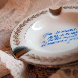 SOLDOUT フランス アンティーク 灰皿 リモージュ窯 アッシュトレイ (タイプ)