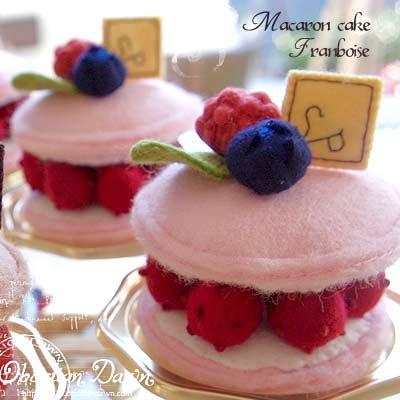 Pitit Four macaron cake - franboise(フランボワーズ)〜Sango-Papa【画像2】