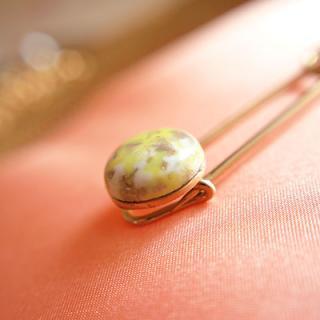 アクセサリー 1980's Fashion plate pin(ファッションプレートピン/イエローストーン)