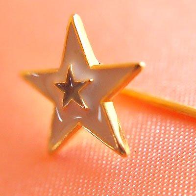 1970's Fashion plate pin(ファッションプレートピン/スター)【画像4】