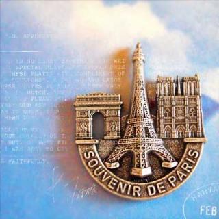 フランス エッフェル塔 フランス マグネット(Souvenir de paris)