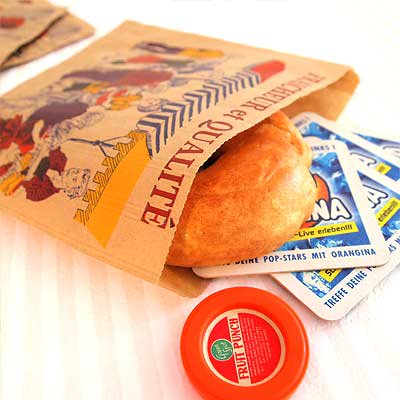 マルシェ袋 フランス 海外市場の紙袋(マルシェ・市場)5枚セット【画像2】