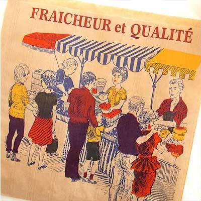 マルシェ袋 フランス 海外市場の紙袋(マルシェ・市場)5枚セット【画像4】