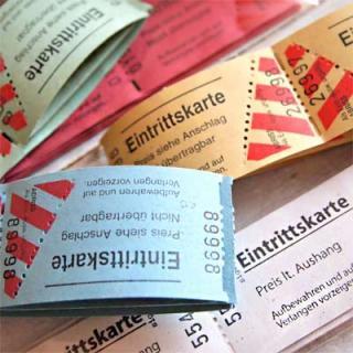 味紙 ラベル チケット 伝票 ドイツ入場チケット【Eintrittskarte】20 枚セット