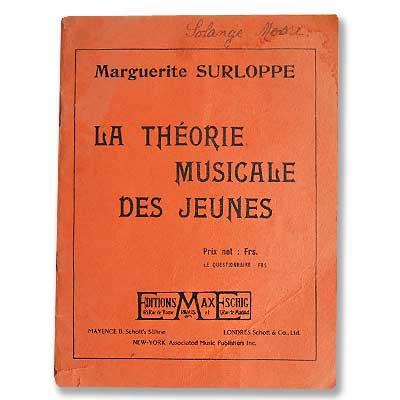 LA THEORIE MUSICALE DES JEUNES(ビンテージ本)