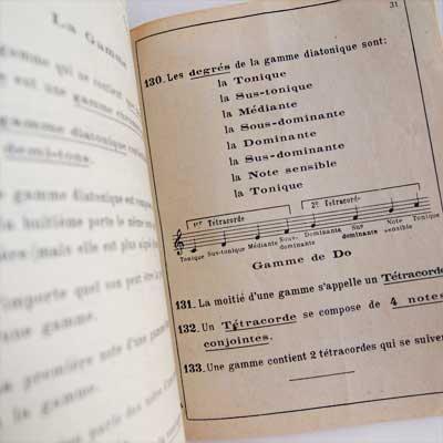 LA THEORIE MUSICALE DES JEUNES(ビンテージ本)【画像3】