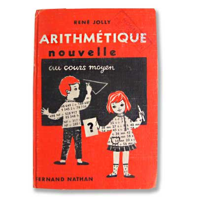 Fernand Nathan ~フェルナン ナタン arithmétique paris(ビンテージ本)
