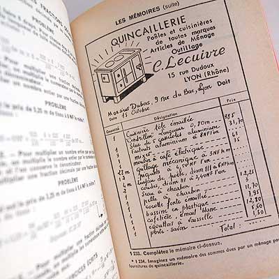 Fernand Nathan ~フェルナン ナタン arithmétique paris(ビンテージ本)【画像4】