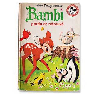 ビンテージ/アンティーク本 FRANCE Bambi バンビ ウォルト・ディズニープレゼンツ(ビンテージ本)