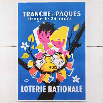 フランスポストカード (LOTERIE MATIONALE)【画像2】