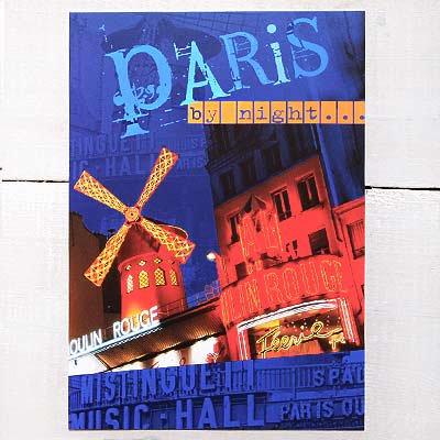 フランスポストカード  ムーラン・ルージュ(paris by night)【画像2】