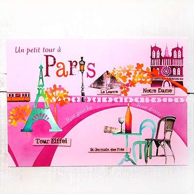 フランスポストカード エッフェル塔 ルーブル美術館 ノートルダム大聖堂(Un petit tour a Paris)【画像2】