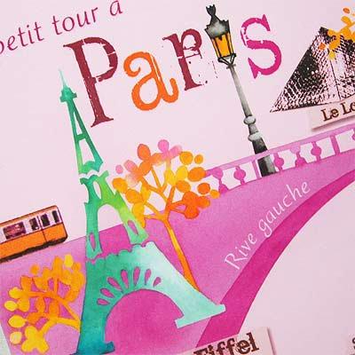 フランスポストカード エッフェル塔 ルーブル美術館 ノートルダム大聖堂(Un petit tour a Paris)【画像3】