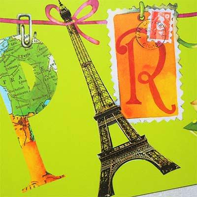 フランス エッフェル塔 ポストカード (Un petit mot de Paris)【画像3】
