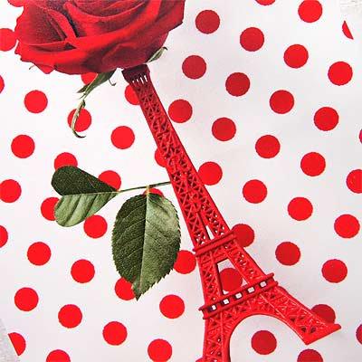 フランス エッフェル塔 ポストカード ローズ バラ (Roses rouges et la Tour Eiffel)【画像3】