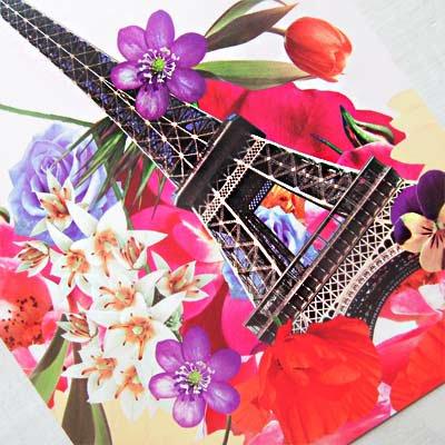 フランス エッフェル塔 フラワー ポストカード ( I love Paris)【画像3】