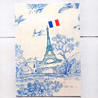 フランス エッフェル塔 ポストカード(Les oiseaux et la Tour Eiffel)【画像2】