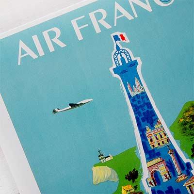 フランス エッフェル塔 ポストカード (AIR FRANCE)【画像3】