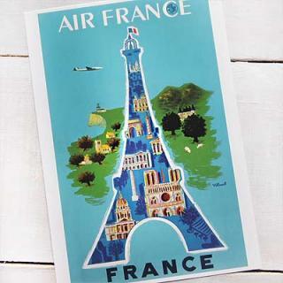 フランス エッフェル塔 ポストカード (AIR FRANCE)