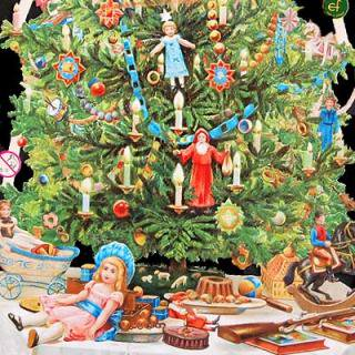 クリスマス ドイツ クロモス【M】<聖なるツリー(A-TYPE)>