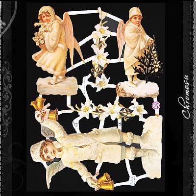 ドイツ クロモス【M】<ホワイトエンジェル クリスマス 天使>【画像2】