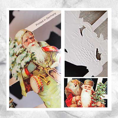 ドイツ クロモス【M】<サンタと子供たち>【画像3】