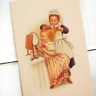 ビクトリアン フランスポストカード (Pomponner B)
