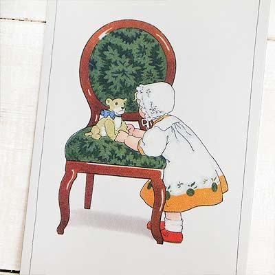 フランスポストカード (Green Chair)