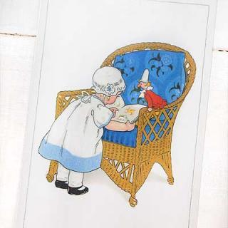 フランス輸入雑貨・ヴィンテージ・アンティーク フランスポストカード (Blue Chair)