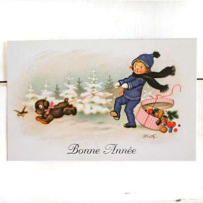 フランス クリスマスポストカード (Bonne Annee A)【画像2】