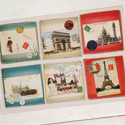 フランスポストカード (collage B-type)【画像2】