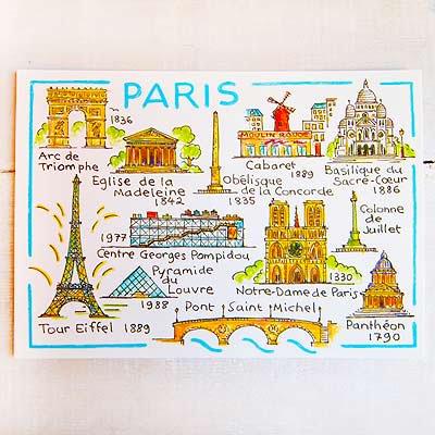 フランス エッフェル塔 ポストカード (Immeuble parisien)【画像2】