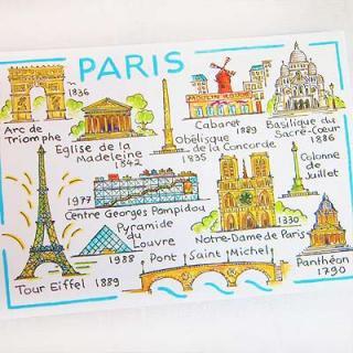 かわいい雑貨 フランス エッフェル塔 ポストカード (Immeuble parisien)