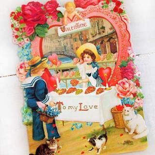 バラ ローズ 雑貨 USA 3D バレンタインディーカード・封筒付【Hart shop 〜Mサイズ】