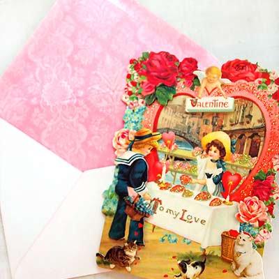 USA 3D バレンタインディーカード・封筒付 【Hart shop 〜Lサイズ】【画像4】