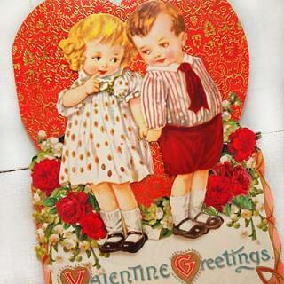 バラ ローズ 雑貨 USA 3D バレンタインディーカード・封筒付 【Kids in love 〜Lサイズ】