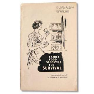 ビンテージ/アンティーク本 アメリカ1961年 FAMILY FOOD STOCKPILE FOR SURVIVAL(ビンテージ本)