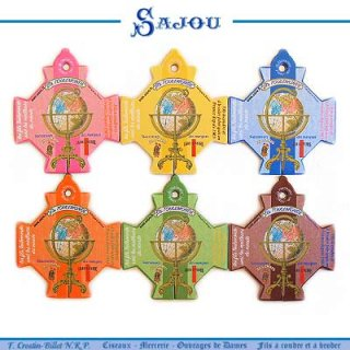 SAJOU(サジュー)手芸 フランス SAJOU (糸巻き6ヶセット)【 CF-19 VERNEUIL】