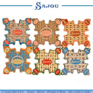 糸巻き フランス SAJOU (糸巻き6ヶセット)【 CF-4 CABOURG】