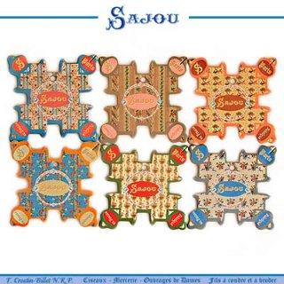 SAJOU(サジュー)手芸 フランス SAJOU (糸巻き6ヶセット)【 CF-4 CABOURG】
