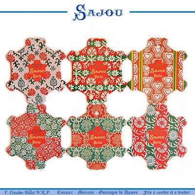 フランス SAJOU (糸巻き6ヶセット)【CF-5 BAYEUX】
