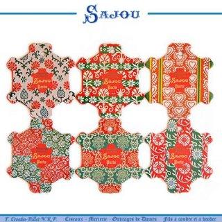 フレンチ雑貨  フランス SAJOU (糸巻き6ヶセット)【CF-5 BAYEUX】
