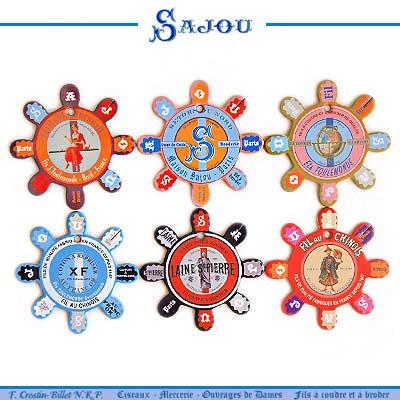 フランス SAJOU (糸巻き6ヶセット)【CF-10 LOUVIERS】