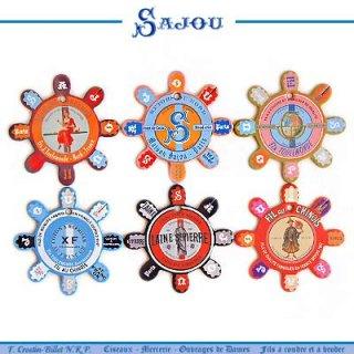 かわいい雑貨 フランス SAJOU (糸巻き6ヶセット)【CF-10 LOUVIERS】