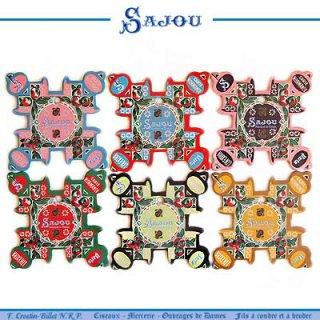 フランス SAJOU (糸巻き6ヶセット)【CF-20 NORMANDIE】