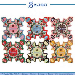 SAJOU(サジュー)手芸 フランス SAJOU (糸巻き6ヶセット)【CF-20 NORMANDIE】