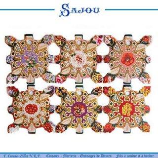 SAJOU(サジュー)手芸 フランス SAJOU (糸巻き6ヶセット)【CF-9 ELBEVF】