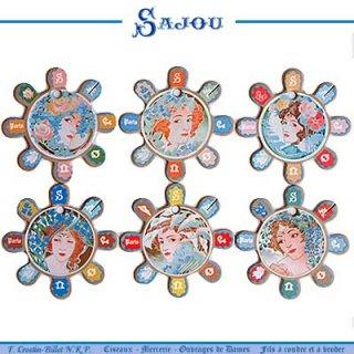 SAJOU(サジュー)手芸 フランス SAJOU (糸巻き6ヶセット)【CF-6 BARFLEUR】