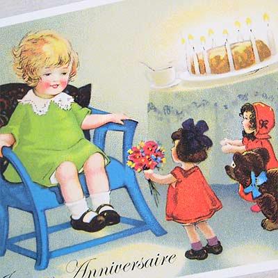 フランスポストカード (Joyeux Anniversaire G)【画像3】