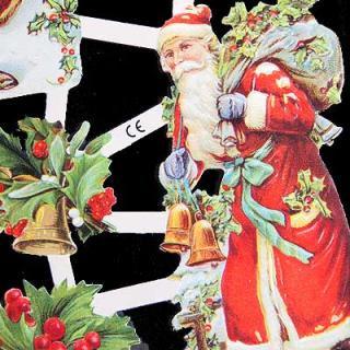 クリスマス ドイツ クロモス【M】<サンタ>